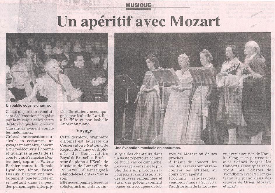 Un apéritif avec Mozart