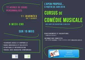 nouveau: cursus de Comédie Musicale à Nancy. 2019/2020